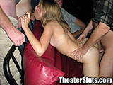 Anal Creampie in the Porn Theater