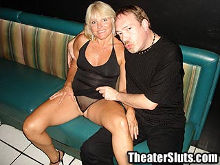 Theater Slut jackie MILF Gang Banged In Porn Theater