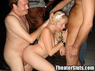 Theater Slut jasy Porn Theater Group Sex Creampie