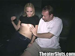 Shawna Taking Cumshots from Strangers in Adult Theater