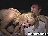 Shawna Sucking Theater in Porn Theater